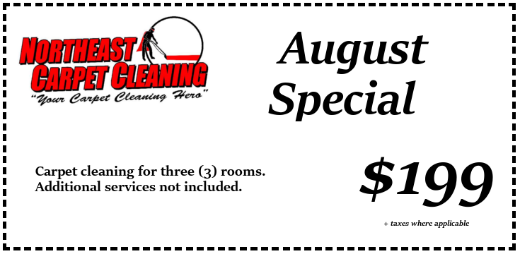 Carpet cleaning for three rooms for $199.00